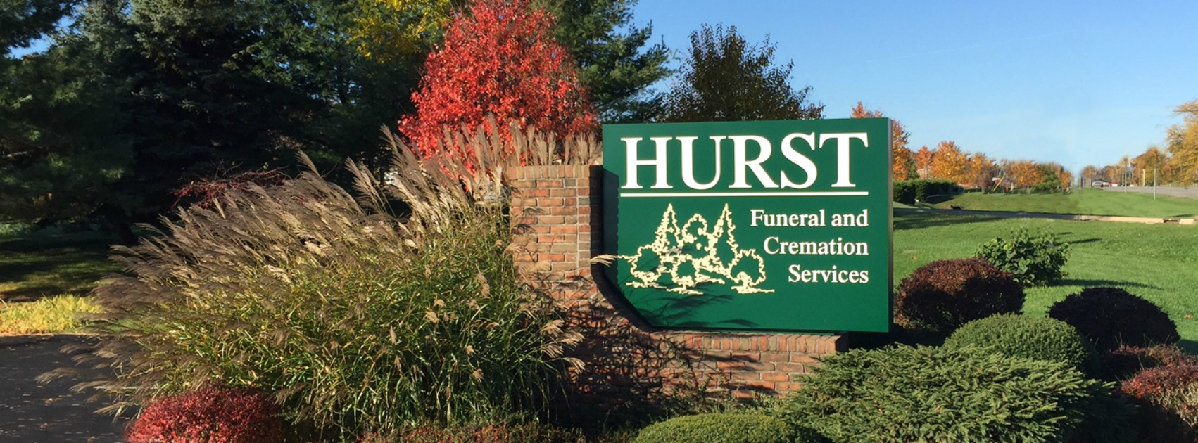 Hurst Funeral Home Sign